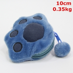 Lilo & Stitch Movie Cosplay Cute Plush Pendant Purse Anime Pocket Coin Plush Wallet (10pcs/set)