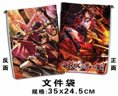 Koutetsujou no Kabaneri Cosplay Cartoon For Student Office File Holder Anime File Pocket