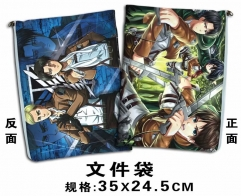 Attack On Titan Cartoon For Student Office File Holder Anime File Pocket