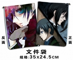 Black Butler Cartoon For Student Office File Holder Anime File Pocket