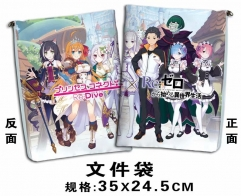Re:Zero Kara Hajimeru Isekai Seikatsu Cartoon For Student Office File Holder Anime File Pocket