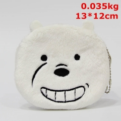 We Bare Bears Anime Coin Wallet Bag Cute Designs Plush Purse