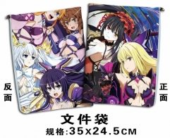 Date A Live Cartoon For Student Office File Holder Anime File Pocket