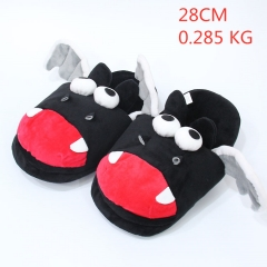 Cartoon Black Bat  Cute Cartoon Anime Plush Slipper