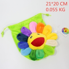 Sun Flower Cute Cosplay Cartoon Plush Bag Fashion Shoulder Anime Drawstring Pocket Bag