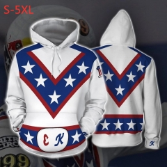Evel Knievel Anime 3D Print Casual Hooded Hoodie