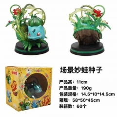 Pokemon Pikachu COS Bulbasaur Anime Action Figure Model Toy 11cm