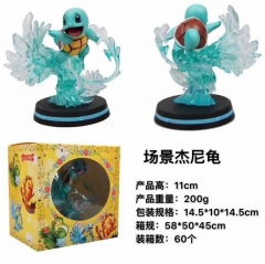 Pokemon Pikachu COS Squirtle Anime Action Figure Model Toy 11cm