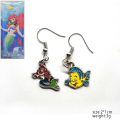 Disney Mermaid Anime Cartoon Alloy Earring
