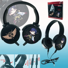 Glory Color Printing Cartoon Cosplay Anime Rotatable Headphone