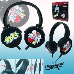 K-POP BTS Bulletproof Boy Scouts BT21 Design Color Printing Cartoon Headphone