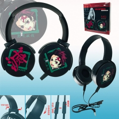 Demon Slayer: Kimetsu no Yaiba Color Printing Cartoon Cosplay Anime Rotatable Headphone