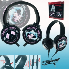 Hatsune Miku Color Printing Cartoon Cosplay Anime Rotatable Headphone