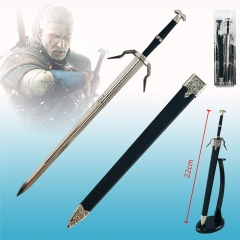 The Witcher Geralt of Rivia Movie Cosplay Anime Weapen Metal Sword