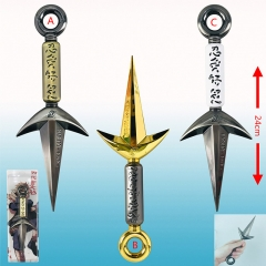 3 Styles Naruto Kunai Cartoon Cosplay Anime Weapen Metal Sword