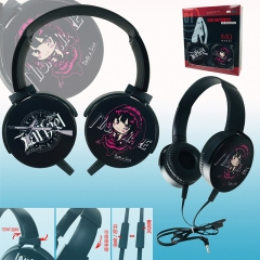 Date a Live Color Printing Cartoon Cosplay Anime Rotatable Headphone