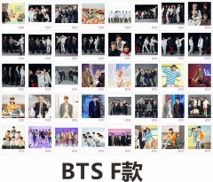 K-POP BTS Bulletproof Boy Scouts Anime Photo Card Lomo Cards 40 PCS/Set