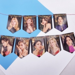 K-POP TWICE Around The Star Hanging Flag Hanging Picture Photo Wall Painting