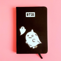 K-POP BTS Bulletproof Boy Scouts BT21 Anime Cartoon PU  Notebook