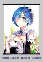 Re: Zero Kara Hajimeru Isekai Seikatsu Cosplay Cartoon Wall Scrolls Decoration Anime Wallscrolls