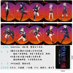 Touken Ranbu Online Anime Cartoon Pattern ID Card Stickers 10pcs/set (5 Sets)