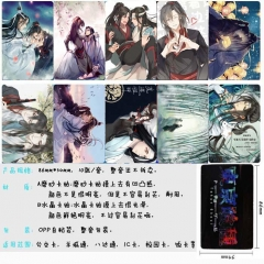 Grandmaster of Demonic Cultivation Anime Cartoon Pattern ID Card Stickers 10pcs/set (5 Sets)
