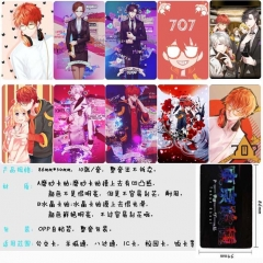 Mystic Messenger Anime Cartoon Pattern ID Card Stickers 10pcs/set (5 Sets)