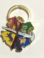 Harry Potter Movie Cosplay Decorative Anime Alloy Keychain