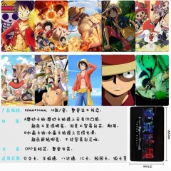 One Piece Anime Cartoon Pattern ID Card Stickers 10pcs/set (5 Sets)