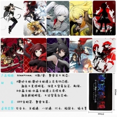 RWBY Anime Cartoon Pattern ID Card Stickers 10pcs/set (5 Sets)
