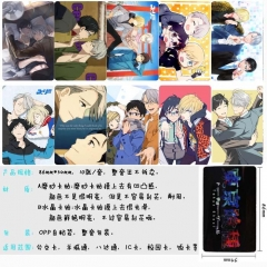 Yuri on Ice Anime Cartoon Pattern ID Card Stickers 10pcs/set (5 Sets)