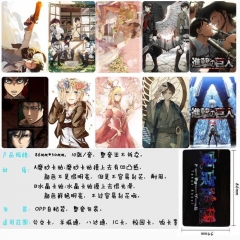 Attack on Titan/Shingeki No Kyojin Anime Cartoon Pattern ID Card Stickers 10pcs/set (5 Sets)