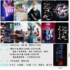 K-POP BTS Bulletproof Boy Scouts Anime Cartoon Pattern ID Card Stickers 10pcs/set (5 Sets)