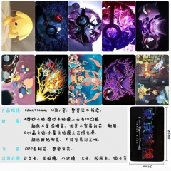 Pokemon Anime Cartoon Pattern ID Card Stickers 10pcs/set (5 Sets)