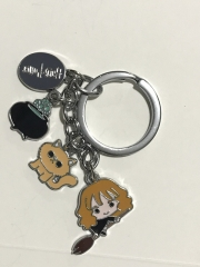 Harry Potter Movie Cosplay Decorative Keyring Anime Alloy Keychain