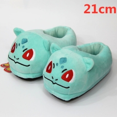 Pokemon Bulbasaur For Kids Cute Cartoon Anime Plush Slipper 21CM (3-8 Years Old)