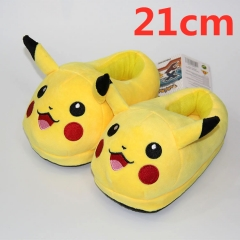 Pokemon Pikachu For Kids Cute Cartoon Anime Plush Slipper 21CM (3-8 Years Old)