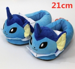 Pokemon Vaporeon For Kids Cute Cartoon Anime Plush Slipper 21CM (3-8 Years Old)
