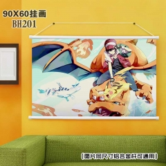 Pokemon Cartoon Wallscrolls Waterproof Anime Wallscrolls 90X60