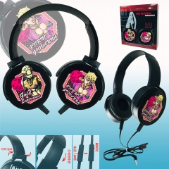 JoJo's Bizarre Adventure Color Printing Cartoon Cosplay Anime Rotatable Headphone