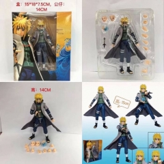 Naruto Namikaze Minato Cartoon Character Anime Figure Collection Model Toy