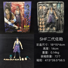 SHF Naruto Uchiha Sasuke 2 Generation Cartoon Character Anime Figure Collection Model Toy
