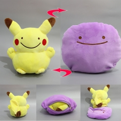 Pokemon Pikachu Anime Cartoon Plush Toy Stuffed Double Sided Pillow Dolls 20CM
