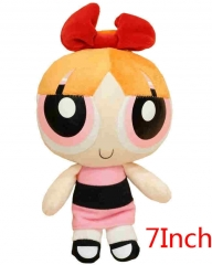 The Powerpuff Girls Blossom Cartoon Stuffed Doll Kawaii Anime Plush Toys For Kids 7inch