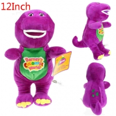 Barney Purple Dinosa Cartoon Stuffed Doll Kawaii Anime Plush Toys For Kids 12inch