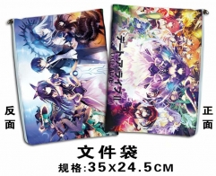 Date A Live Cartoon Document Holder For Student Office Anime File Pocket 35*24.5cm