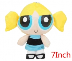 The Powerpuff Girls Bubbles Cartoon Stuffed Doll Kawaii Anime Plush Toys For Kids 7inch