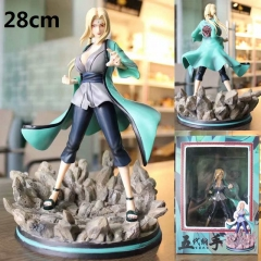 Naruto Tsunade Anime Figure PVC Collection Cartoon Model Toy 28cm