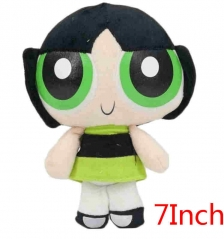 The Powerpuff Girls Buttercup Cartoon Stuffed Doll Kawaii Anime Plush Toys For Kids 7inch