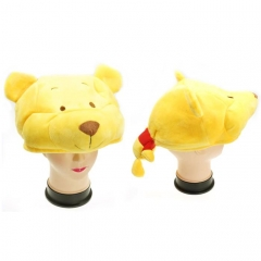 Disney Winnie the Pooh Cute Cartoon Cosplay For Winter Unisex Anime Plush Hat